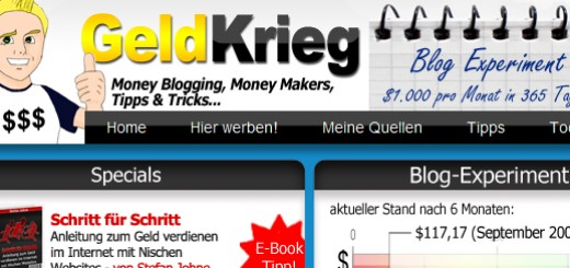 Screenshot - Blog : Geldkrieg.de