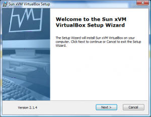 Installation VirtualBox von Sun Screenshot 1
