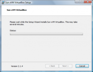 Installation VirtualBox von Sun Screenshot 3