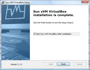 Installation VirtualBox von Sun Screenshot 4