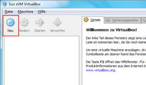 Installation VirtualBox von Sun Screenshot 5