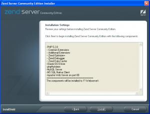 Installation ZEND CE Server