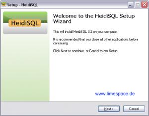 Heidi SQL Installation