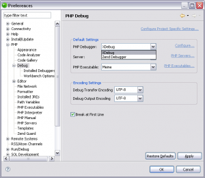 Zend Studio for Eclipse mit XDebug