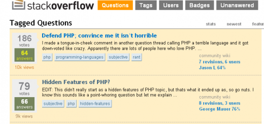 Screenshot Stackoverflow