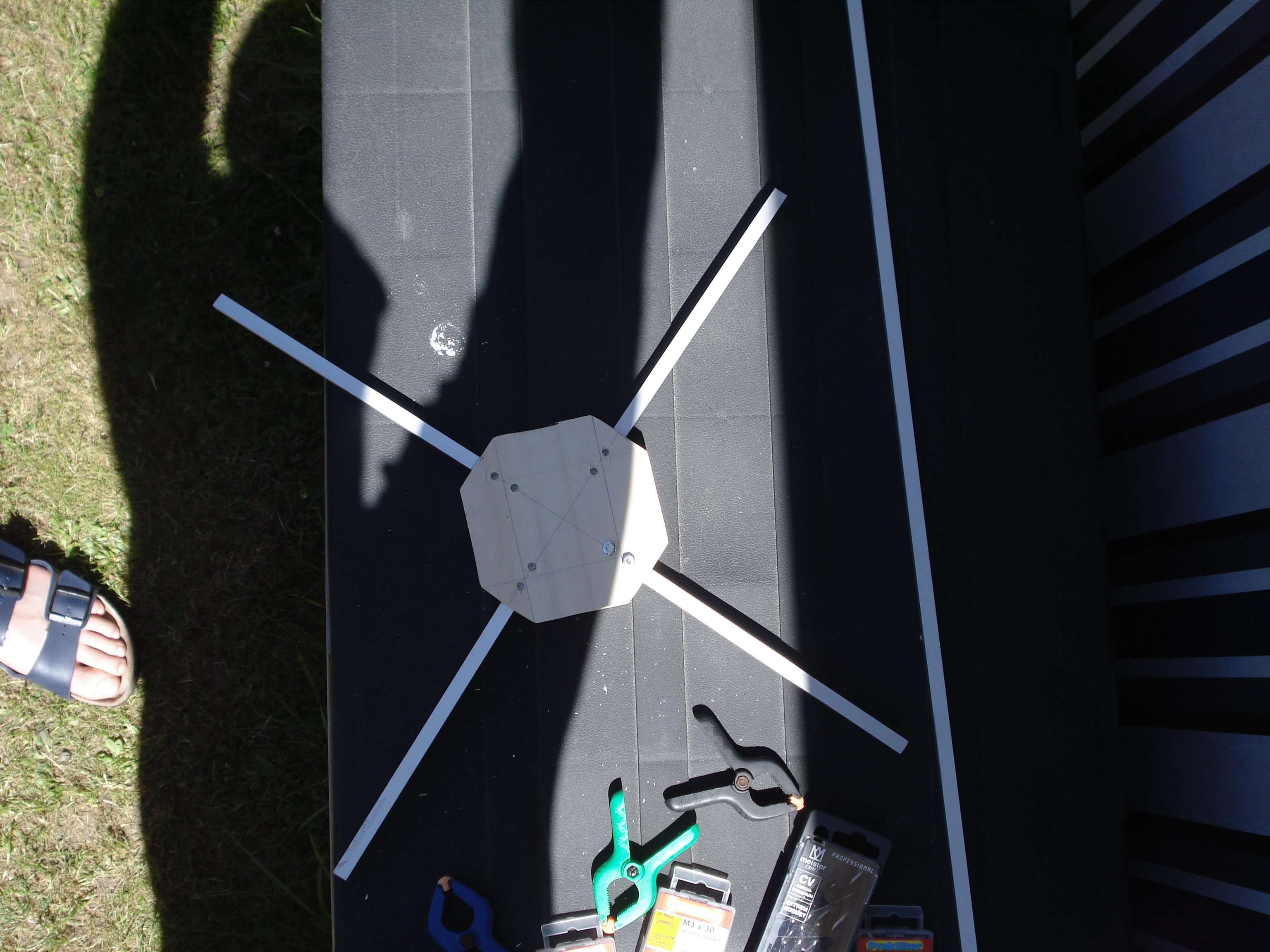 Rahmen unseres Quadrocopters